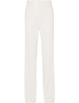 Snake Effect Faux Leather Straight Leg Pants by We11done
