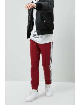 Side Striped Pintuck Joggers by Forever 21