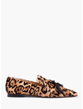 L.K.Bennett Celina Leopard Tassel Loafers, Natural by L.K.Bennett