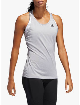 Adidas Tech Prime 3 Stripes Training Tank Top, Multi Solid Grey/Heather by Adidas