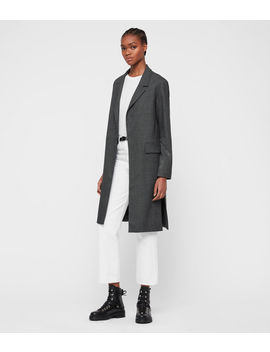 Aleida Check Duster Coat by Allsaints