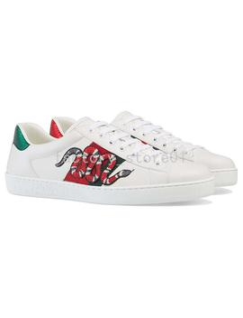 Luxury Snake Designer Men Women Sneaker Casual Shoes Low Top Leather Sneakers Ace Bee Stripes Shoe Walking Sports Trainers Drop Shipping by D Hgate.Com