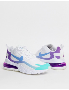 Nike Blue And Purple Air Max 270 React Sneakers by Nike