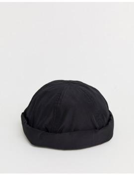 Черная шапка бини с пряжкой Asos Design by Asos Design