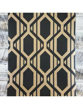 Patton Geometric Black And Gold Diamond Metallic Shades Wallpaper Sh34549 by Etsy