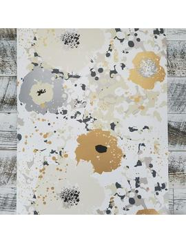 York Wallcoverings Spontaneity Floral Metallic Gold Black Silver Cream Wallpaper Ce4011 by Etsy