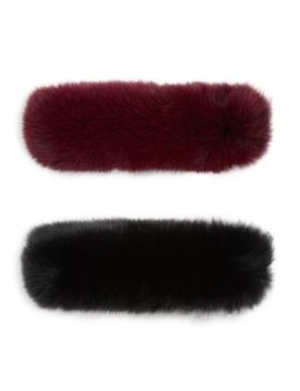 Made For Generation 2 Piece Fox Fur Headband Set by Wolfie Furs