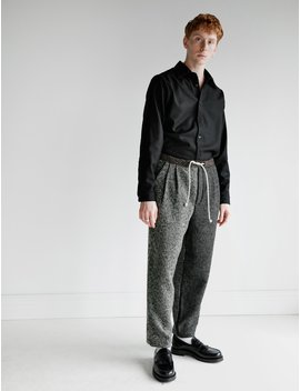 Mixed Wool Pants by Frank Leder