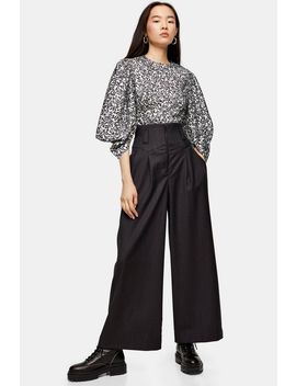 Idol Charcoal Grey Wide Leg Trousers by Topshop