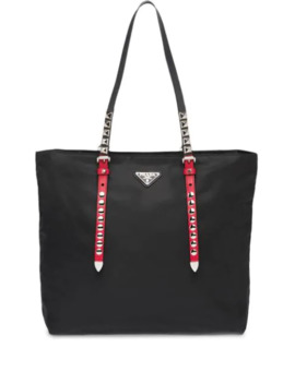 Studded Shopper Tote by Prada