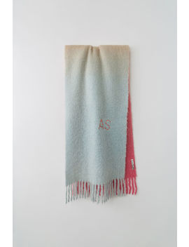 Dip Dyed Scarf Pink/Peach/Grey by Acne Studios