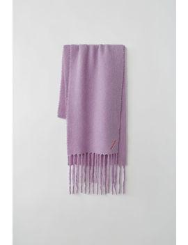 Boiled Wool Blend Scarf Lavender Purple by Acne Studios