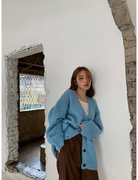 Loose Fit Double Pocket Cardigan by Stylenanda