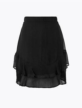 Ruffle Hem Mini Skirt by Marks & Spencer
