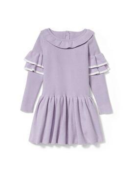 Ruffle Sleeve Sweater Dress by Janie And Jack