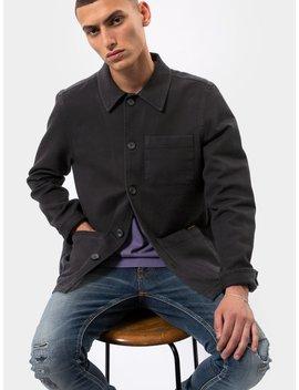 Barney Worker Jacket Black by Nudie Jeans