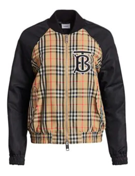 Harlington Check Bomber Jacket by Burberry