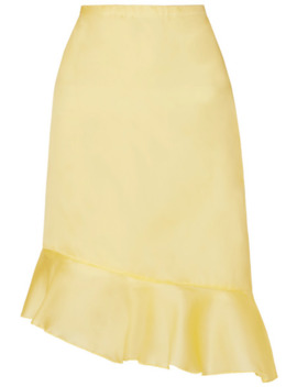 Kika Asymmetric Ruffled Silk Georgette Skirt by Maison Cléo
