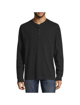 St. John's Bay Sueded Mens Long Sleeve Henley Shirt by St. John`s Bay
