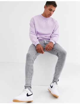 Jack & Jones   Originals   Sweat Shirt Ras De Cou Oversize   Lilas by Jack & Jones