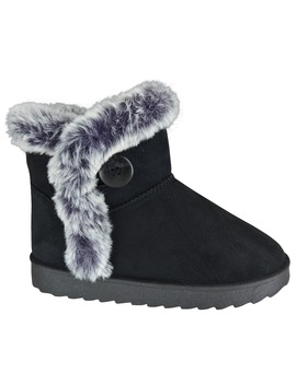 Womens Ladies Ankle Fur Snugg Hug Button Grip Sole Flat Warm Winter Boots Size by Ebay Seller