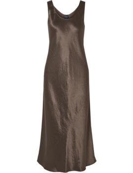 Leisure Talete Hammered Satin Midi Dress by Max Mara