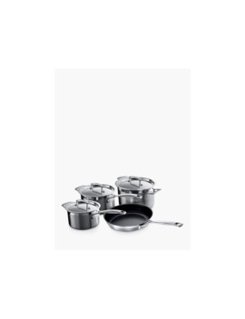 Le Creuset 3 Ply Stainless Steel Pan Set, 4 Pieces by Le Creuset