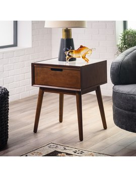 Belham Living Campbell Mid Century Modern Marble Side Table by Hayneedle