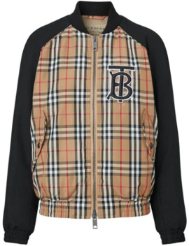 Monogram Motif Vintage Check Bomber Jacket by Burberry
