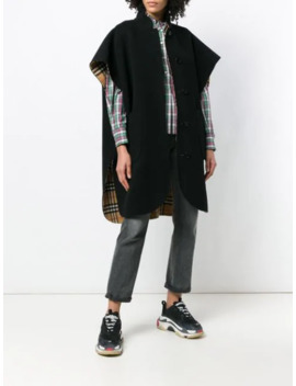 Loose Fitted Cape Coat by Burberry