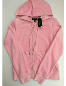 Small Juicy Couture Pink Velour Hoodie/Jacket W/Zipper Detail On Reverse Nwt by Ebay Seller