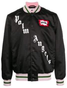 X Ice Cream Studded Varsity Jacket by Palm Angels
