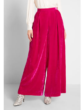 Bold Plans Velvet Wide Leg Pants by Emily And Fin