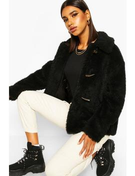 Duffle Faux Fur Jacket by Boohoo
