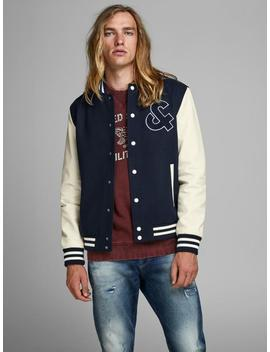 Varsity Style Bomber Jacket by Jack & Jones
