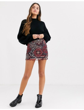 Daisy Street Mini Skirt In Patchwork Floral by Daisy Street