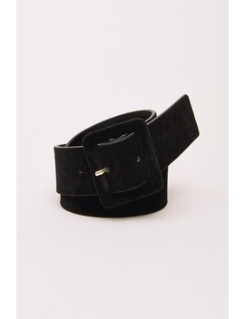 Faux Suede Belt by Dynamite