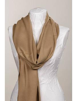 Light Brown Linen And Viscose Blend Fabric Scarf. Long Scarf Wrap. Spring Shawl Wrap. Unisex Wrap. Gift Scarf. by Etsy