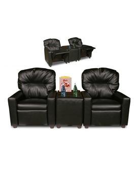 Dozydotes 10772 Theater Seating Black Leather Like (Child Size) by Dozydotes