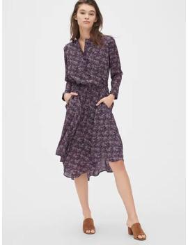 Floral Print Midi Shirtdress by Gap