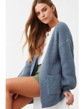 Chunky Ribbed Knit Cardigan by Forever 21