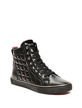 Melo Quilted High Top Sneakers by Guess