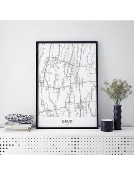 Ubud, Bali, Indonesia Art, City Map Print Wall Art | A4 A3 A2 A1 by Etsy