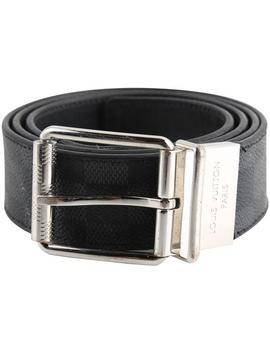 Gray Damier Print 40mm Reversible Damier Graphite Belt by Louis Vuitton