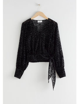 Leopard Jacquard Wrap Blouse by & Other Stories