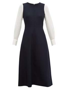 Panelled Wool Blend Midi Dress by Cefinn