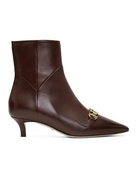 Burgundy Zumi Boots by Gucci