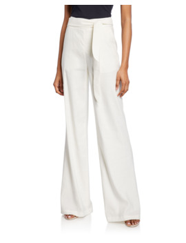 Melika Belted Wide Leg Pants by Veronica Beard