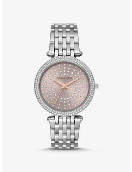 Darci Celestial Pavé Silver Tone Watch by Michael Kors