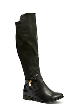 Black Stretch Riding Boots   Wide Width by Fashion To Figure